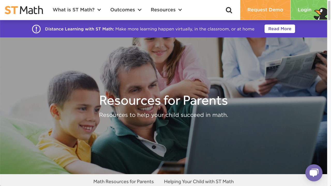 image of the parent page on stmath.com