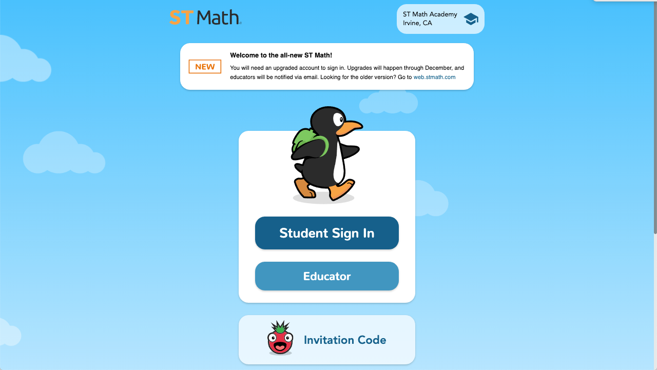st math sign-in page