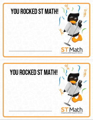 Image of You Rocked ST Math! note